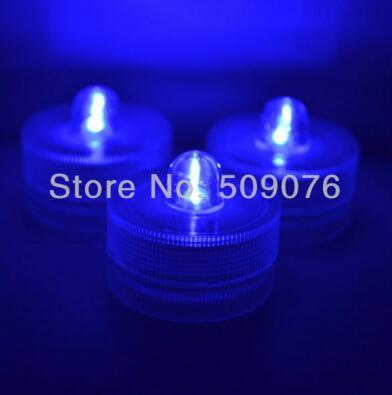 24 шт./лот 8 видов цветов беспламенный свечах привело свечи водонепроницаемый светодиодные свечи для свадьбы - Цвет: blue