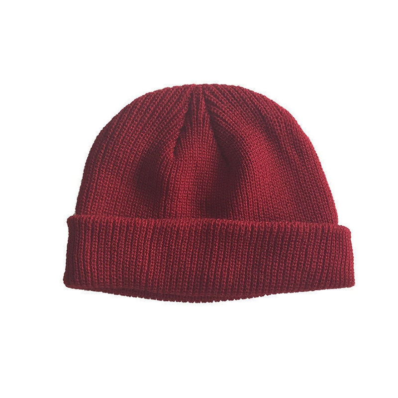 3e489c41ea2da Άνδρες   s καπέλα Men Knitted Hat Beanie Skullcap Sailor Cap Cuff Brimless  Retro Navy Style Beanie Hat Best Sale-WT