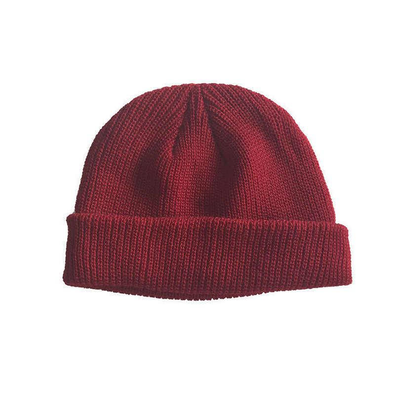 19e5ec01bdf95 ... Men Knitted Hat Beanie Skullcap Sailor Cap Cuff Brimless Retro Navy  Style Beanie Hat Best Sale ...