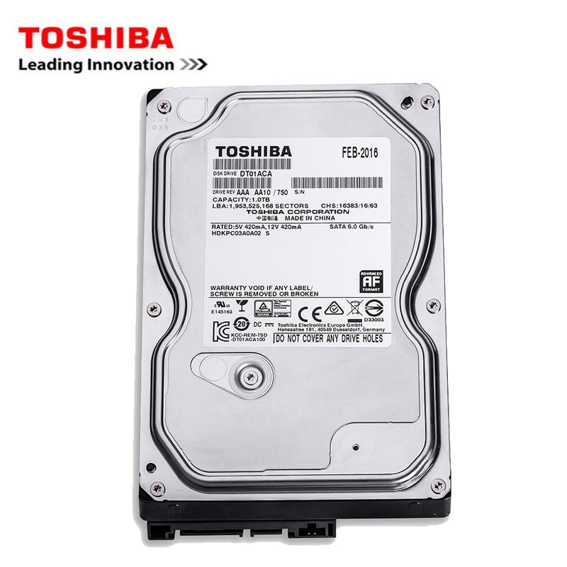 Toshiba brand 1000GB desktop computer 3.5 internal mechanical hard disk SATA2/SATA3 6Gb/s hard disk 1TB HDD 7200RPM 32MB buffer