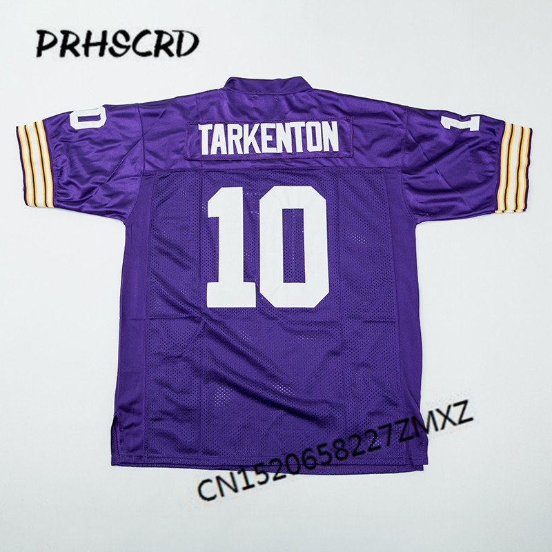 official photos e094d 34875 US $26.99 10% OFF|Retro star #10 Fran Tarkenton Embroidered Throwback  Football Jersey-in America Football Jerseys from Sports & Entertainment on  ...