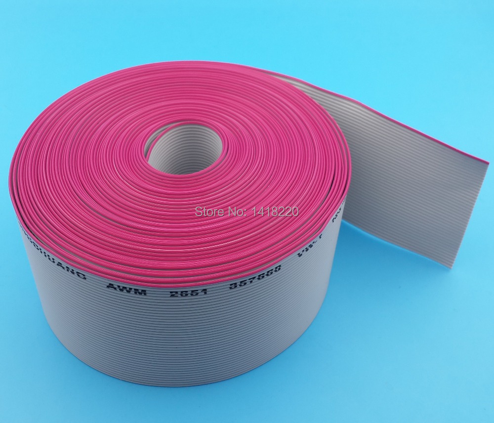 2M 40 Way gray flat ribbon cable 1.27mm pitch for 2.54mm Diameter 0.1mm FC connectors