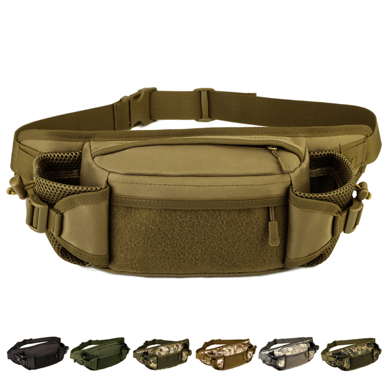 Multi purpose Outdoor Waist packs Nylon Camo double font b Bottle b font bags Climbing Travel