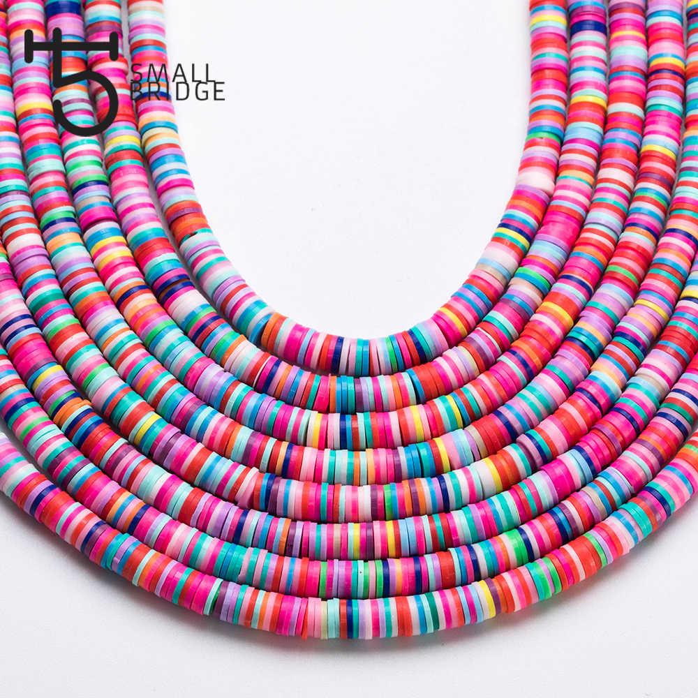 6 millimetri Colore Misto Polymer Clay Perle per il Braccialetto Che Fanno Le Ragazze Fai Da Te Accessori Perles Allentato Fette Fimo Perline Sholesale C801