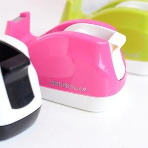Deli Schreibwaren Tragbare Candy Farbe Band Halter Klebeband Sitz Band Cutter Band Dispenser Dispensador Cinta Adhesiva