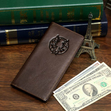 Free Shipping High Quality  Hot Sale Fashion JMD Long size 100% Genuine Leather Men Wallets Leather Credit Card Holder #8009-1C