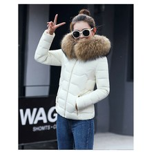 Female Warm Winter Jacket 2017 Fashion Women Hooded Cotton Slim Coat Solid Color Large size Female Casual Coat
