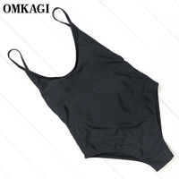 OMKAGI Brand Sexy Swimwear Women One Piece Swimsuit Push Up Bodysuit Bathing Suit Summer Beachwear Monokini