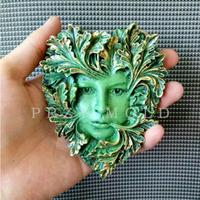 Silicone Mold Exclusive Leaf Pendant Woman Avatar Classic Handmade Molds For Home Decoractions