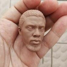 1/6 Scale Black Panther 2.0 Unpainted Head Sculpt for 12Action Figures Bodies DIY