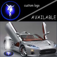 Michael Jackson Logo GOBO Light Car Door Projection Spotlight Welcome Ghost Shadow Cree LED Puddle Light