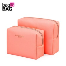 Фотография fashion cosmetic bag  large capacity make up bag waterproof storage bag