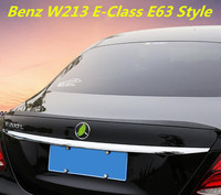 Carbon Fiber CAR REAR WING TRUNK LIP SPOILER FOR Benz W213 E-Class E200 E220 E250 E300 E63 Style 2016 2017 2018 BY EMS