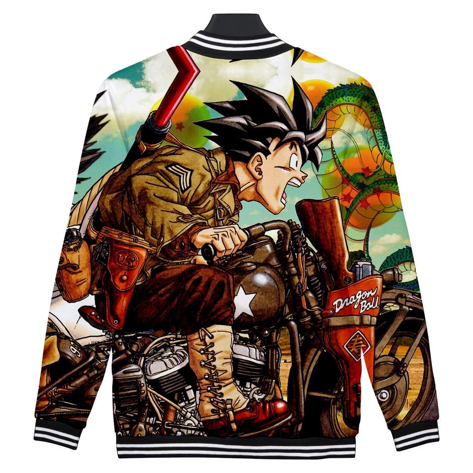 DRAGON BALL baseball jacket Anime 3D print jackets women college jacket Super Saiyan Son Goku clothes baby girl