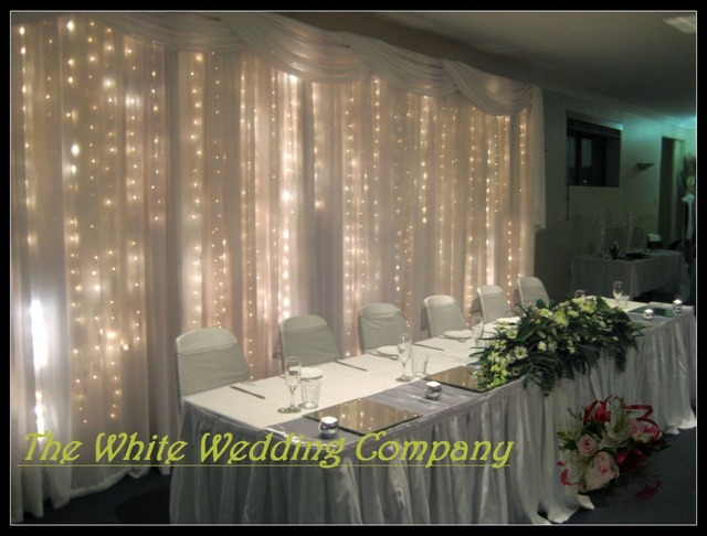 3mx6m White Ice Silk Backdrop Curtain With Swag For