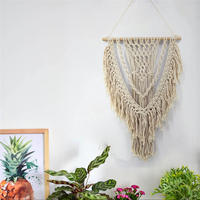 Nordic Bohemian Hand Knotted Wall Hanging Tapestry Macrame Scandinavian Wall Mural Aesthetic Vintage Beautiful Tassel Craft