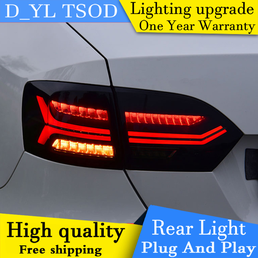 D YL Car Styling for VW Jetta Taillights 2012 2017 Jetta LED Tail Lamp Rear Lamp