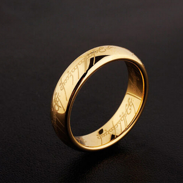 Clic Uni Anillos Hobbit Lord Rings Super Bright Anium Ring Gold Silver Black Of