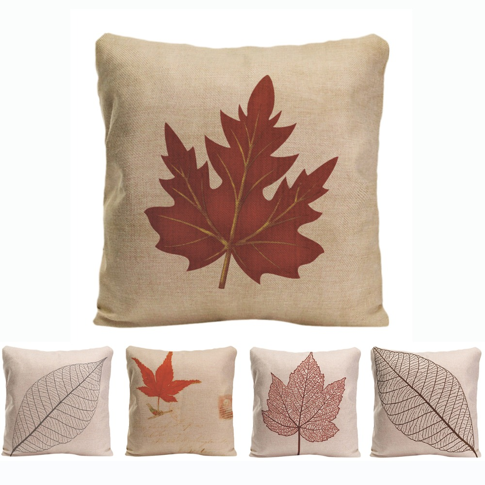 Swell Us 4 99 Red Maple Leaf Printed Cushion Cover Simple Style Leaves Linen Pillow Cases Soft Home Decor Chair Car Sofa Pillow Cover For Gift In Cushion Machost Co Dining Chair Design Ideas Machostcouk