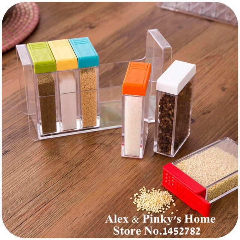 Merveilleux 6pcs/set Kitchen Pepper And Salt Box Condiment Bottles Salt Shaker Storage  Box For Salt And Pepper  In Salt Pigs, Cellars U0026 Servers From Home U0026 Garden  On ...