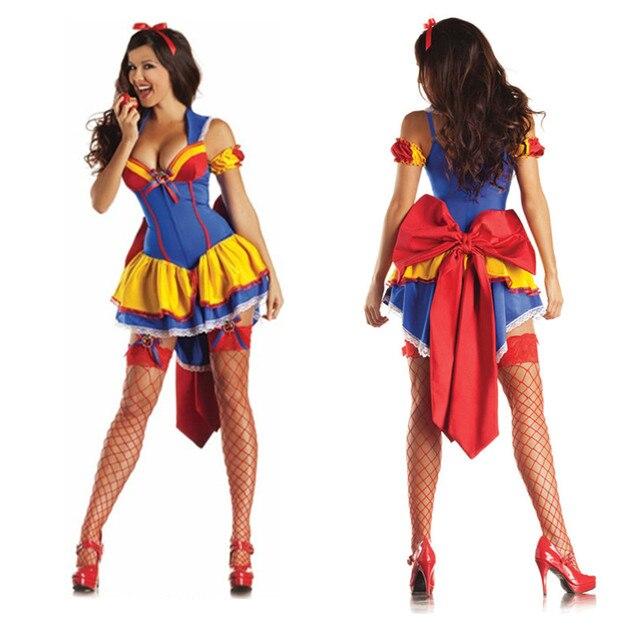 2016 Sexy Adulte Blanche Neige Costume Carnaval Halloween Costumes Pour  Femmes conte de fées reine Vêtements