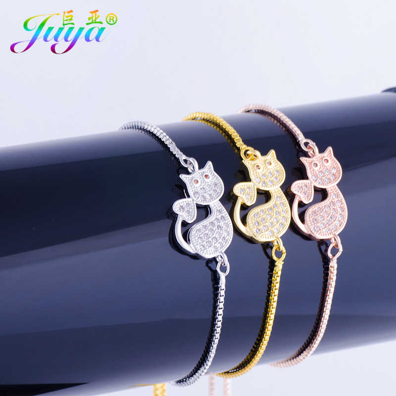 2018 New Fashion Charm Kitten Cat Bracelets Exquisite Girl Adjustable Chains Bracelets For Children Mother's Day Gift Jewelry