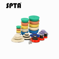 SPTA Detail Polishing Pad for Drill &polisher Buffing Buffer Kit + Backing Plate 5/8 11/ M14/M16 Thread Pad & Adapters 32pack
