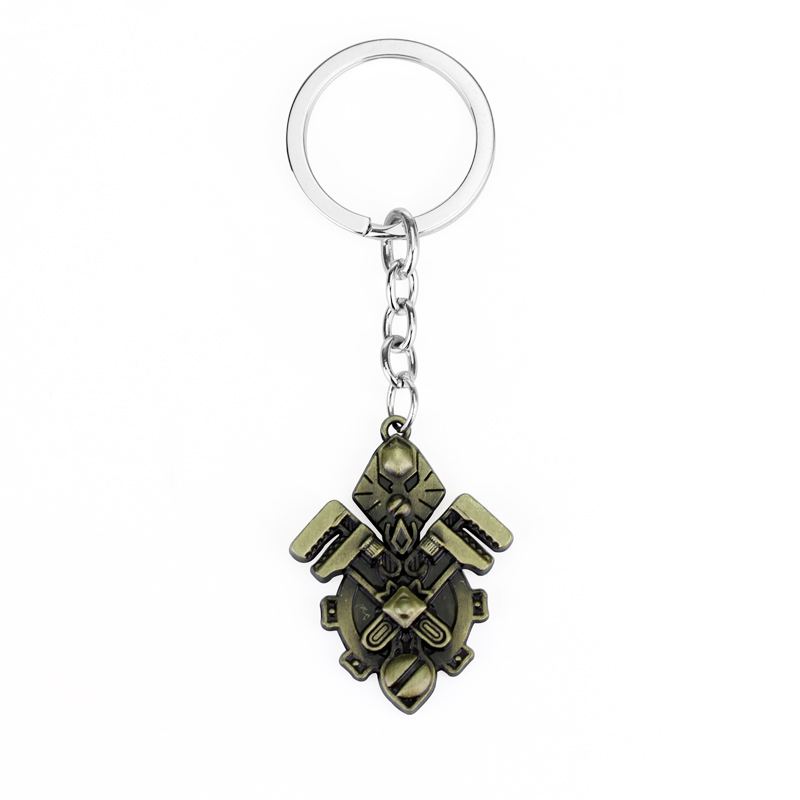 Hot Game WOW Alliance Gnome Logo Keychain World of Warcraft Science and  Technology Badge Key Ring Chain Men Women Accessories e23a4da71f