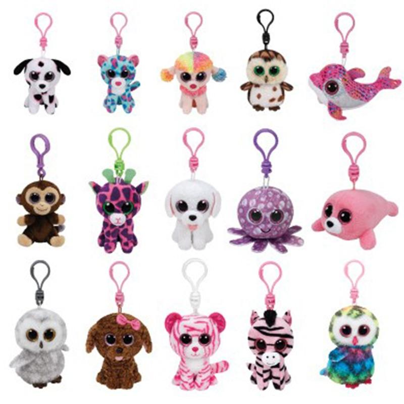 цена Free Shipping EMS 50 pcs/lots Ty Beanie Boos Plush Toys birthday Owl panda unicorn fox Mini Plush toy Anime dolls key chain Gift