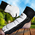 2016 al por mayor WTF aprobar taekwondo mano pie protectores niño adulto karate mma kick boxeo muay tailandés TKD manos guardias