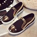 ГОРЯЧАЯ блестками женщины плоские туфли весна/осень 2 цвета граничит мокасины женские квартиры обувь женщины криперс одноместный комфорт обувь
