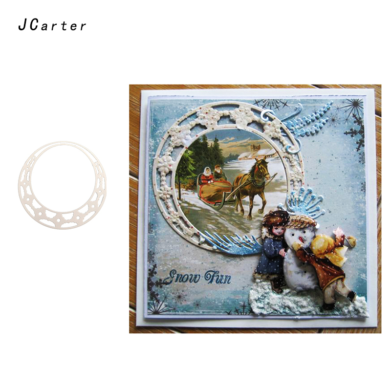 JC 2019 New Arrival Garland Background Metal Cutting Dies for Scrapbooking DIY Embossing Folder Paper Card Handmade Album Crafts