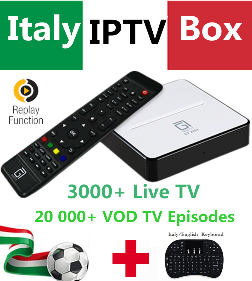 Italy IPTV GT2017 Box 3000+LiveTV Android DVB-S2 decoder Sk Calcio Mediaset Premium UK Germany Albanian EX-YU Smart Italy TV Box i box rs232 dvb s satellite smart sharing nagra 3 dongle black