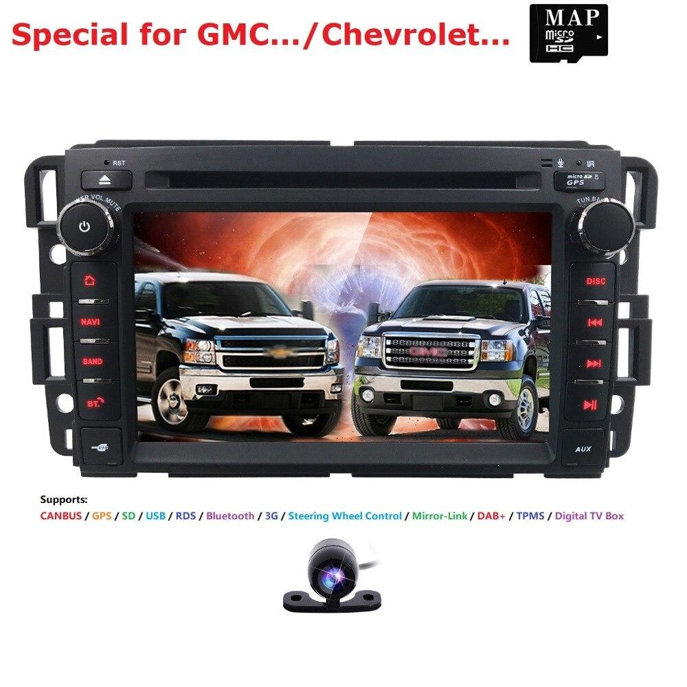 Lecteur DVD 7 'pour autoradio pour GMC Yukon Denali Acadia Savana Sierra Chevrolet Express Traverse Equinox multimédia Audio Navi