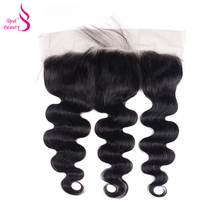 Real Beauty Ear To Ear Malaysian Remy Hair Body Wave Lace Frontal Can Be Dryed 13X4 Human Hair Closure With Baby Hair