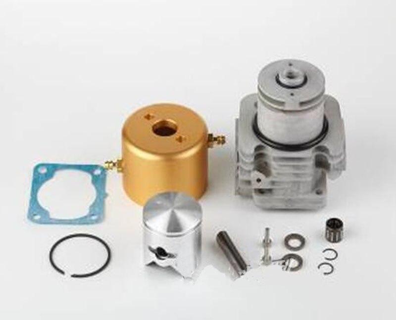 1 jeu de cylindre 36mm cylindre Stator cylindre + joint + Piston + anneau + Kit de roulement à broches pièces de rechange pour moteur RC bateau Zenoah 29-30cc