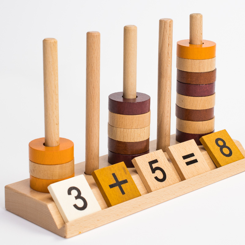 Montessori Wooden Mathematics Arithmetic Toy Children Preschool Learning Education Game 1-3-6 Years Old
