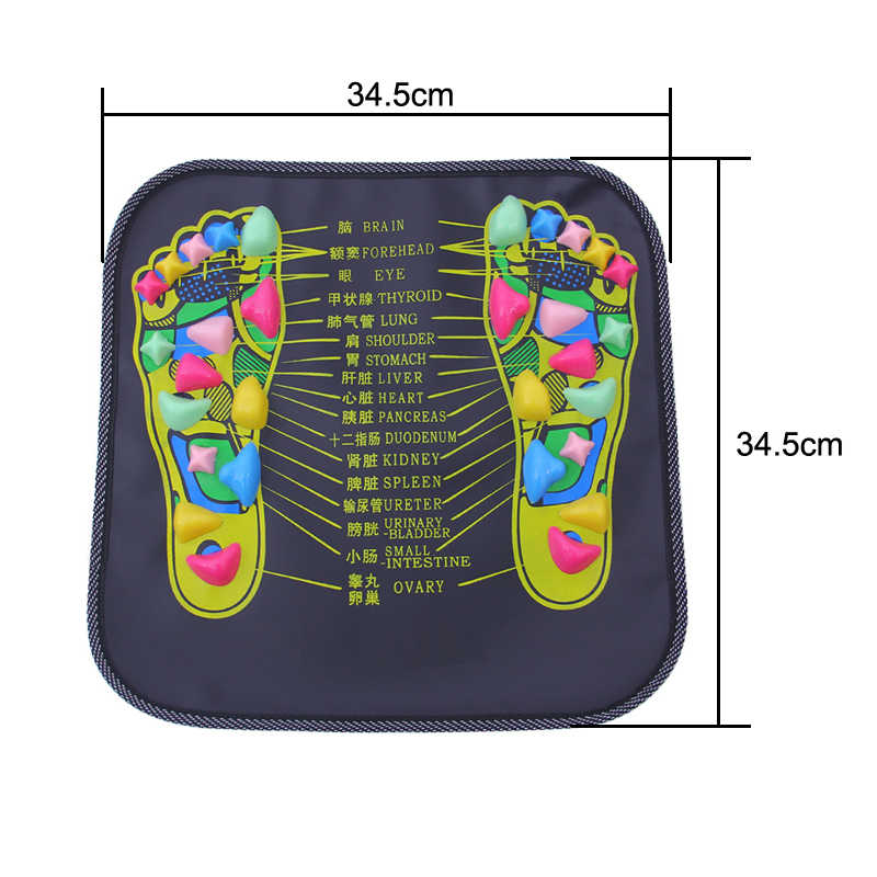 Reflexología caminar piedra pie pierna dolor alivio caminar masajeador almohadilla cojín salud cuidado acupresión masajeador