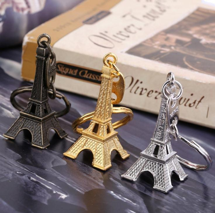 Home & Garden 10pcs Gold Paris Tower Keychains Bronzed Metal Model Keyring For Christmas Gift Wedding Souvenirs Baby Shower Souvenir Cheapest Price From Our Site Event & Party