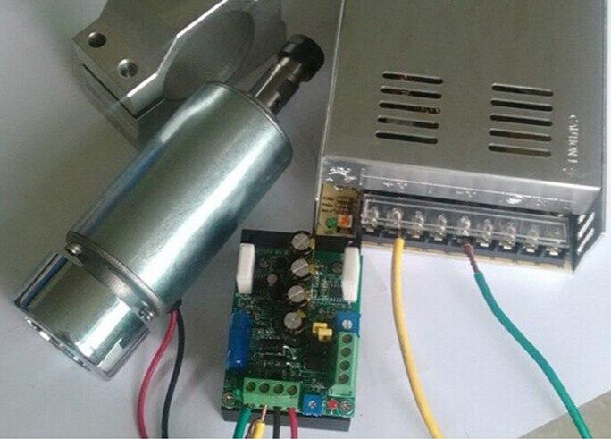 Bricolage ER11 300 W 24 V 12000 rpm PCB moteur de broche de puissance prendre support et régulateur de vitesse et alimentation un ensemble