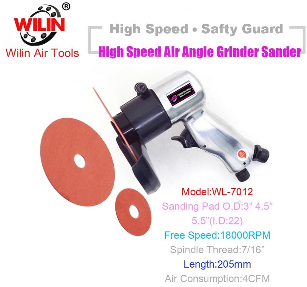 Wilin Industrial High Speed 18000rpm Air Angle Sander Disc Fabric Wheels Polishing Tool Grinder PolisherWilin Industrial High Speed 18000rpm Air Angle Sander Disc Fabric Wheels Polishing Tool Grinder Polisher