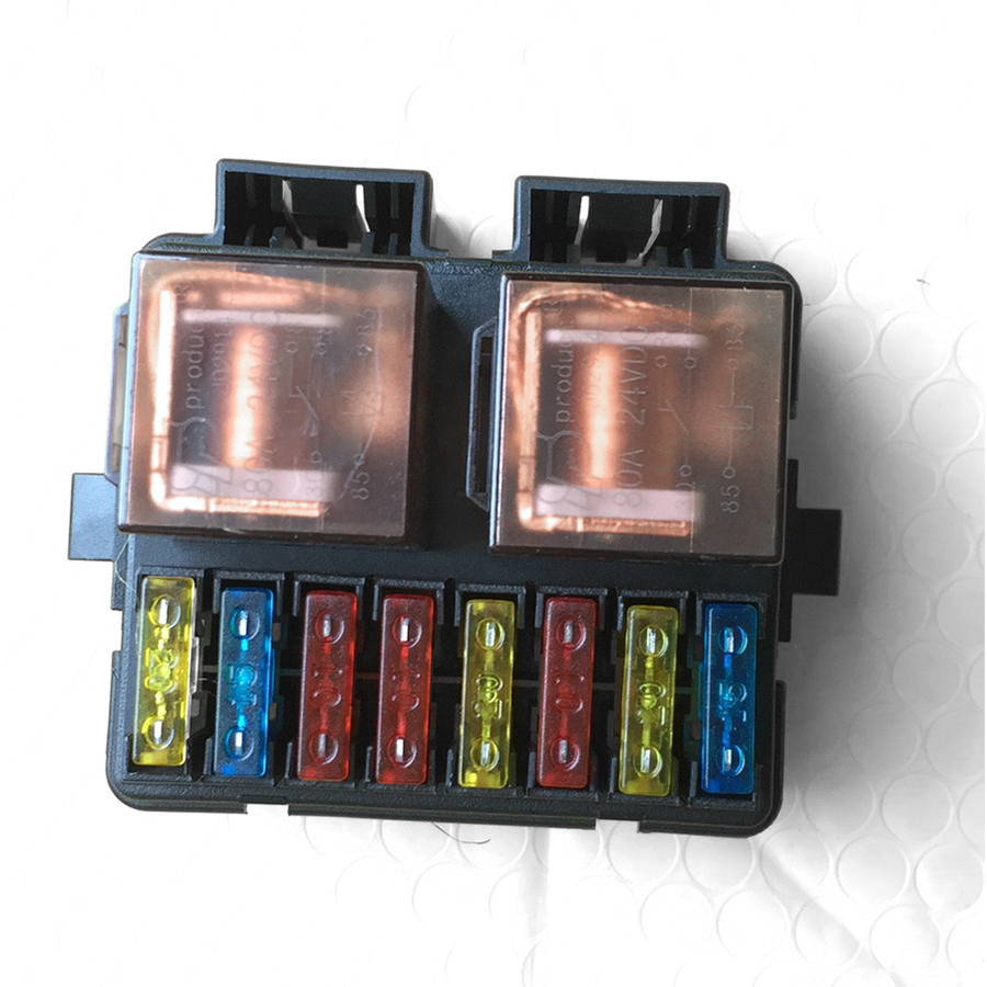 hight resolution of 12v 2 way circuit relay blade fuse box car boat auto automotive holder kits