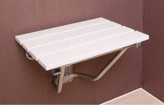 Wand Stuhl Sitz Massivholz Duschklsitz Abstand Energiesparwand Weiße Farbe Montiert Morden Entspannung