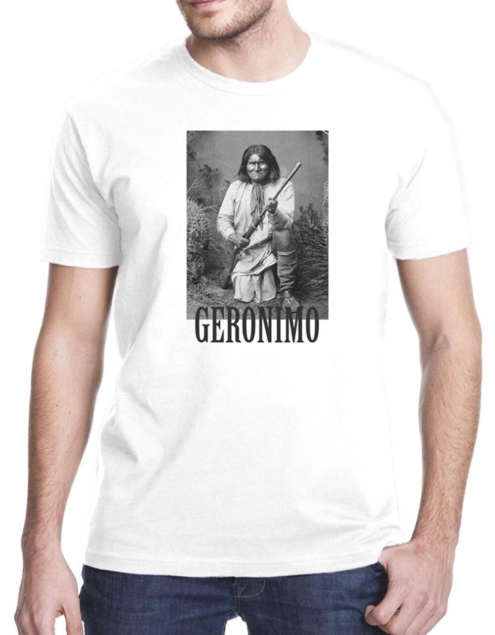 Sommer 2017 Berühmte Marke Geronimo Apache Krieger T-Shirt Gedruckt T Shirts männer...
