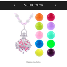 Jelly Sounder and Copper Fit Cage Ball Locket Pregnancy Necklace