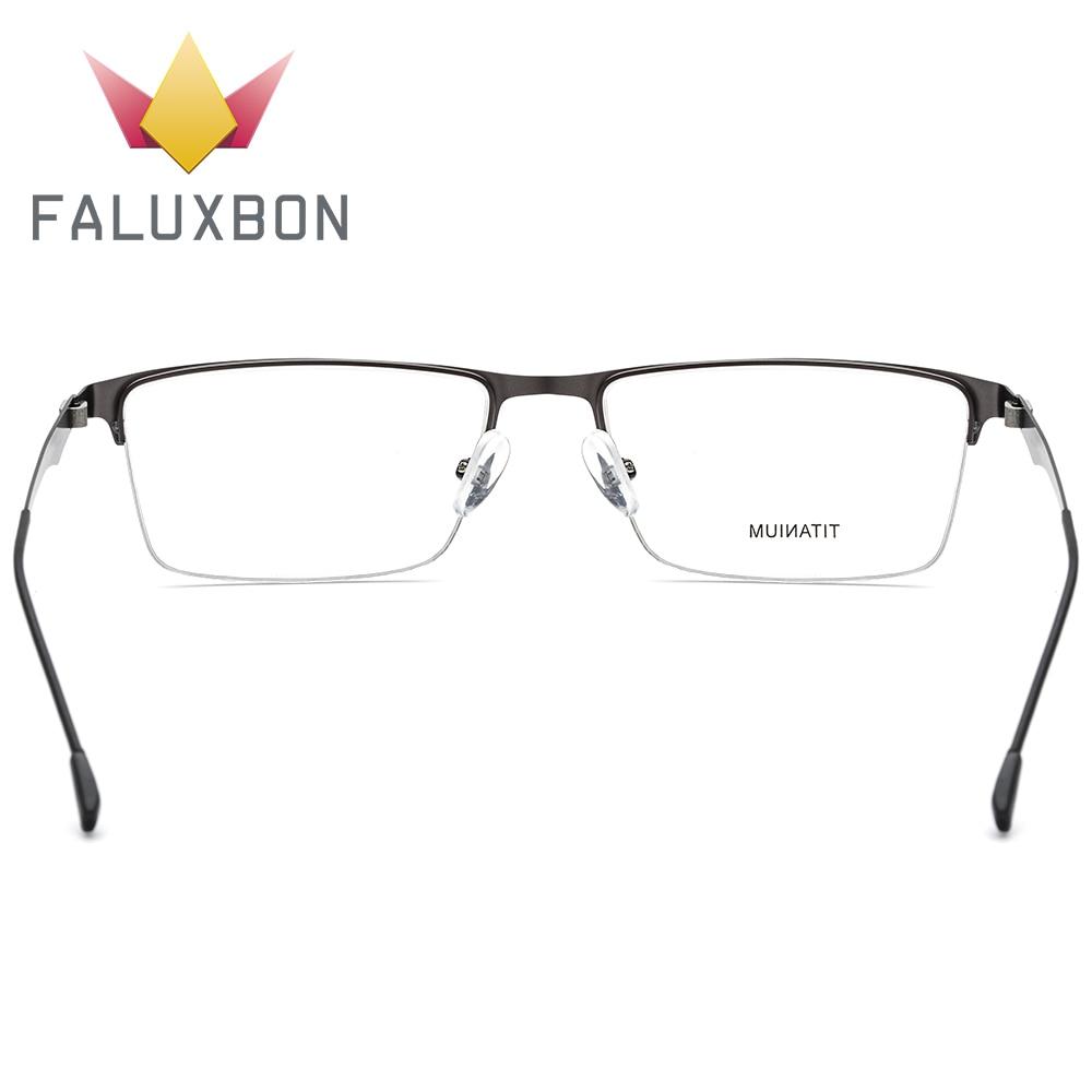 Optische Brillen Männer Titan Spektakel Anti c4 Randlose Verordnung Brille Myopie 2019 Licht c2 Halb Transparent C1 Rechteck c3 Blau Legierung gEXqS6