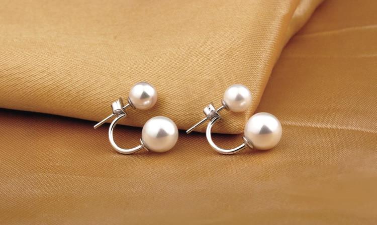 Moda yüksək keyfiyyətli 925 sterlinq gümüşü cüt tərəfli - Moda zərgərlik - Fotoqrafiya 4