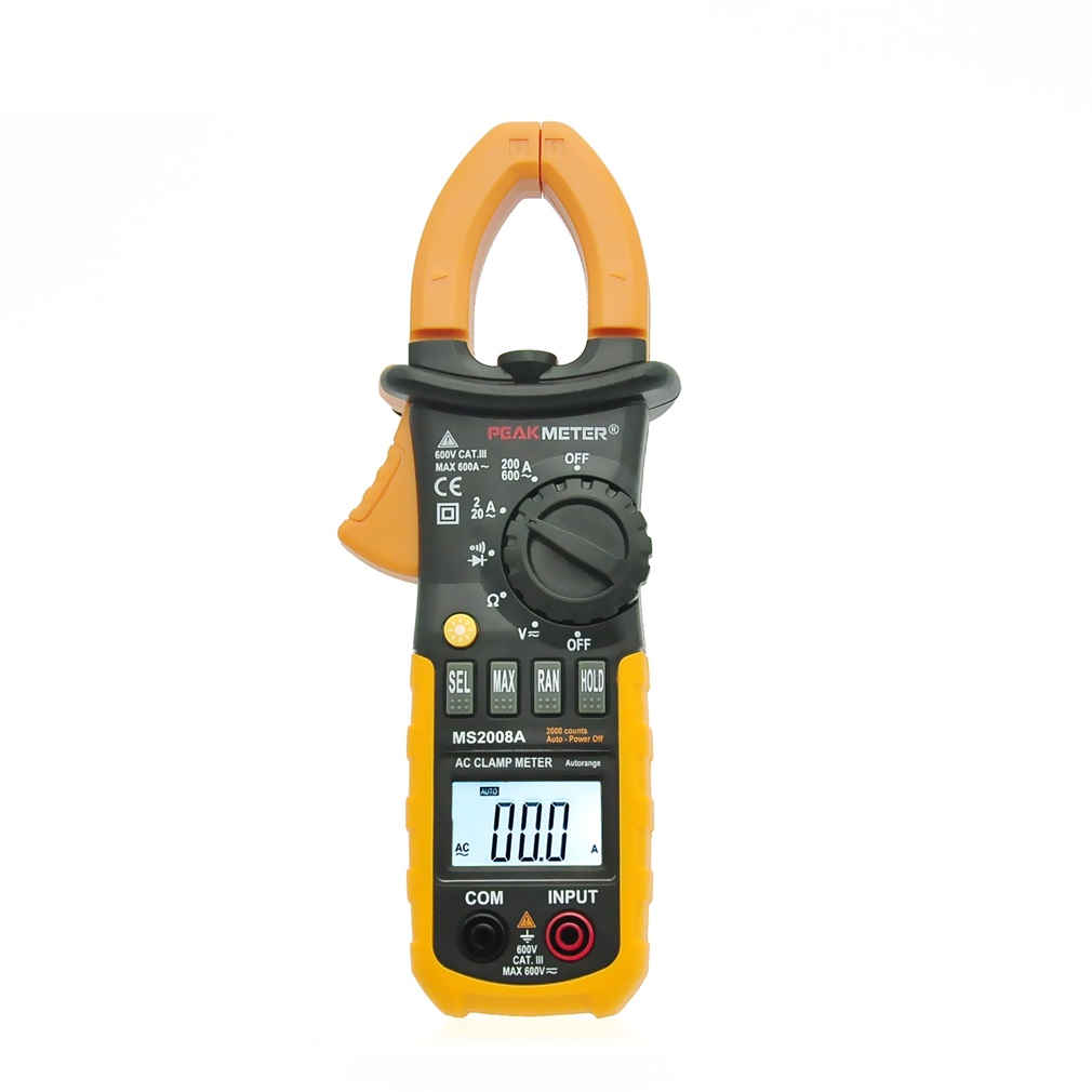 Digital Clamp Meter DC AC Volt AC Amp Ohm Tester MS2008A 2000 Counts LCD doug sahlin digital portrait photography for dummies