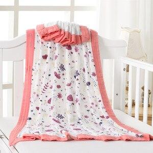 Image 4 - סגול ארבעה layerbaby מוסלין החתלה שמיכות באיכות טוב יותר מ עדן אנאיס כותנה/במבוק ילדי שמיכת תינוק לעטוף ילדים בת