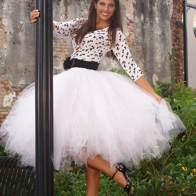 Best Quality Woman Skirt Women Chiffon Long American Apparel Tutu Petticoat Net Ball